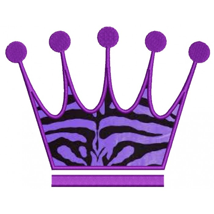 Majestic Crown Applique Machine Embroidery Digitized Design Pattern