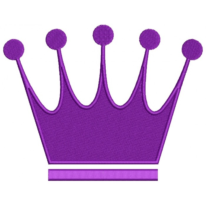 Majestic Crown Filled Machine Embroidery Digitized Design Pattern
