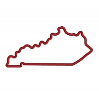 Kentucky Applique Machine Embroidery Digitized State Design Pattern