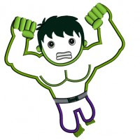 Looks Like Angry Hulk Superhero Applique Machine Embroidery Digitized Design Pattern