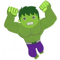 Looks Like Angry Hulk Superhero Filled Machine Embroidery Digitized Design Pattern