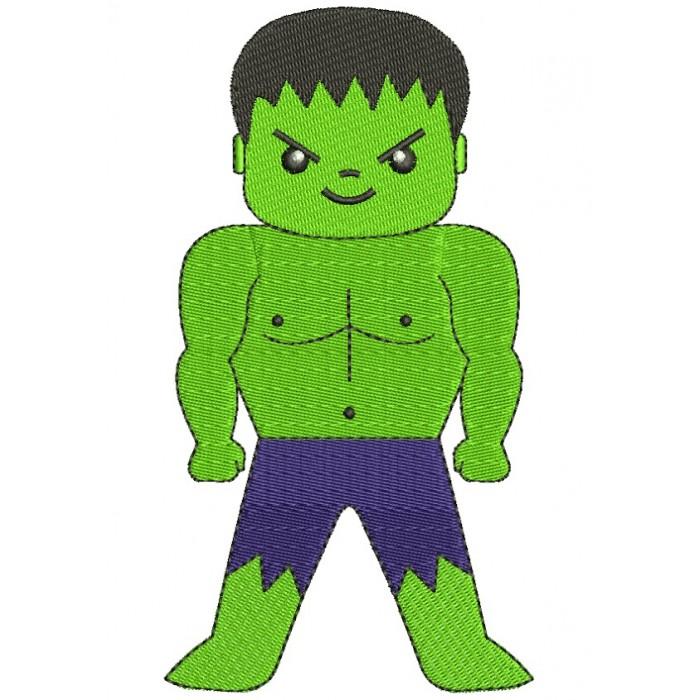 Looks Like Hulk Superhero Filled Machine Embroidery Digitized Design Pattern
