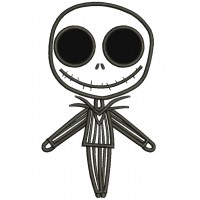 Looks Like Jack Skellington from night before christmas Applique Machine Embroidery Digitized Design Pattern