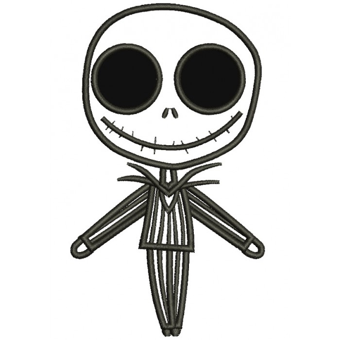 Jack Skellington Christmas.Looks Like Jack Skellington From Night Before Christmas Applique Machine Embroidery Digitized Design Pattern