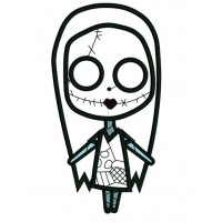 Looks Like Sally Skellington from night before christmas Applique Machine Embroidery Digitized Design Pattern