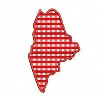 Maine Applique Machine Embroidery Digitized State Design Pattern