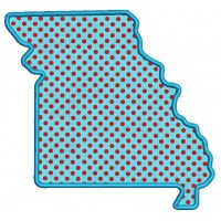 Missouri Applique Machine Embroidery Digitized State Design Pattern