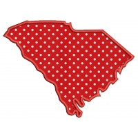 South Carolina Applique Machine Embroidery Digitized State Design Pattern