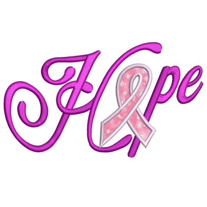 Breast cancer applique design