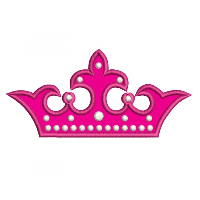 Crown Applique Machine Embroidery Digitized Design Pattern - Instant Download