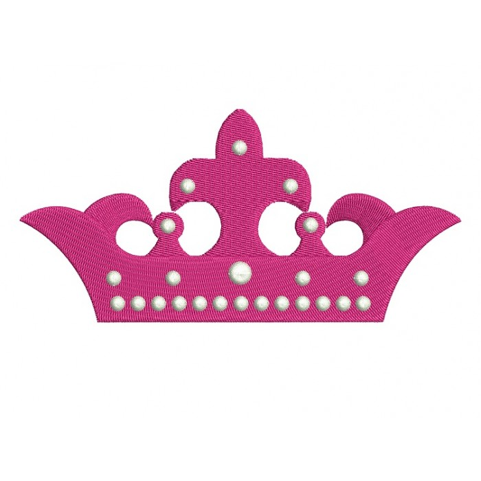 Crown Machine Embroidery Digitized Design Filled Pattern - Instant Download