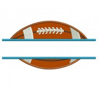 Football Split Applique Sport Machine Embroidery Digitized Design Pattern- Instant Download - 4x4 , 5x7, and 6x10 hoopss