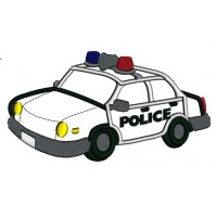 Police Cop Car Applique Machine Embroidery Digitized Design Pattern