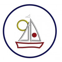 Boat Applique Machine embroidery digitized design patter-instant download
