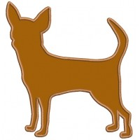 Chihuahua Dog Applique Machine Embroidery Digitized Design Pattern