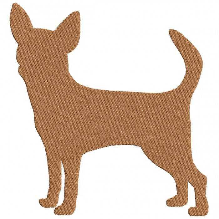 Chihuahua Dog Filled Machine Embroidery Digitized Design Pattern