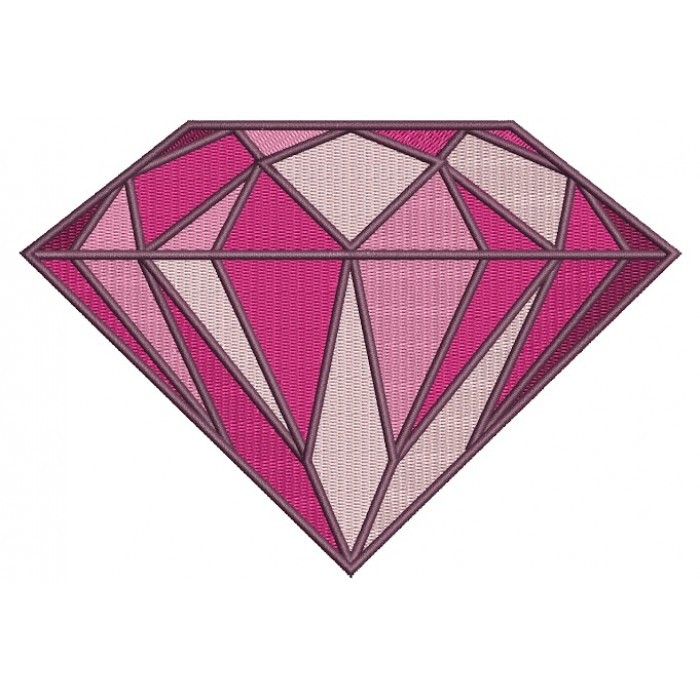 Diamond Filled Machine Embroidery Design Digitized Pattern