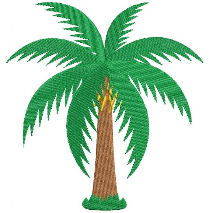 Palm Tree Filled Tropical Machine Embroidery Design Digitized Pattern
