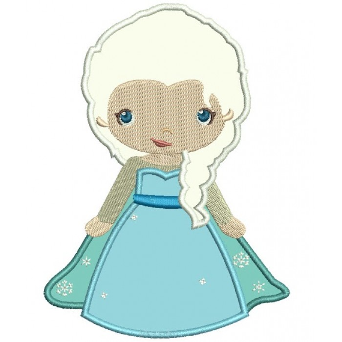 Looks Like Princess Elsa from Frozen Applique Machine Embroidery ...