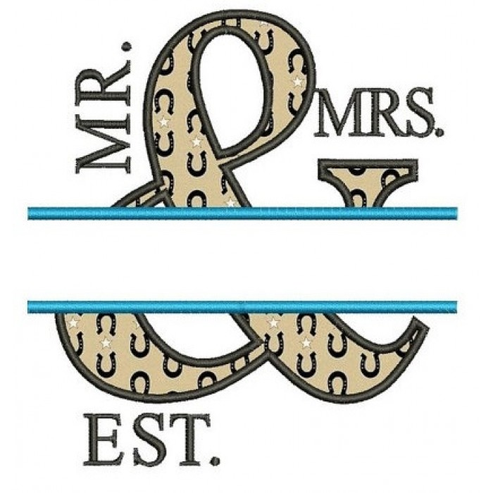 Mr & Mrs Applique Embroidery Digitized Design Design Pattern - Instant Download - 4x4 , 5x7, and 6x10 -hoops