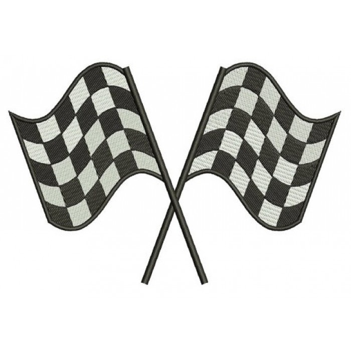 Racing Checkered Flag Filled Machine Embroidery Digitized Design Design Pattern - Instant Download - 4x4 , 5x7, and 6x10 -hoops