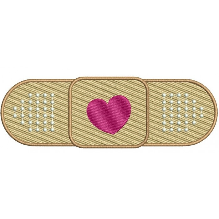 Band Aid for Doc McStuffins Medical Filled Digitized Machine Embroidery Design Digitized Pattern