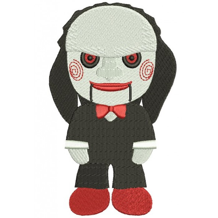 Looks Like Character from Saw Horror Filled Machine Embroidery Digitized Design Pattern