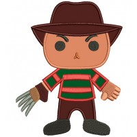 Looks Like Cute Freddy Krueger Horror Applique Machine Embroidery Digitized Design Pattern