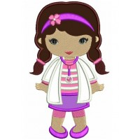 Looks Like Doc McStuffins Applique Girl Doctor Machine Embroidery Design Digitized Pattern