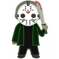 Looks Like Jayson from Chain Saw Horror Applique Machine Embroidery Digitized Design Pattern