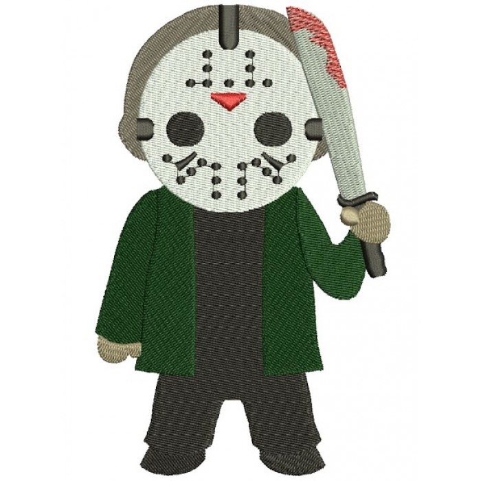 Looks Like Jayson from Chain Saw Horror Filled Machine Embroidery Digitized Design Pattern