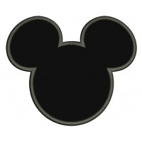 Mickey Mouse Ears Applique Machine Embroidery Digitized Design Pattern