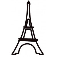Eiffel tower Paris Applique Machine Embroidery Digitized Pattern- Instant Download - 4x4 ,5x7,6x10 -hoops