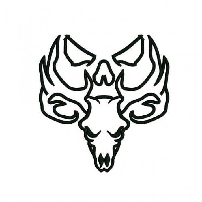 Skull Applique, buck, moose, Machine Embroidery Digitized Pattern ...