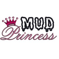 Mud Princess Applique Machine Embroidery Digitized Design Pattern - Instant Download - 4x4 , 5x7, 6x10
