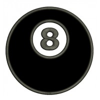 8 (Eight) Ball Billiard (Pool) Applique Machine Embroidery Digitized Design Pattern - Instant Download - comes in three sizes 4x4 , 5x7, 6x10 hoops