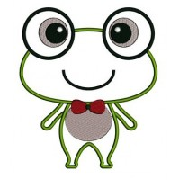 Cute Frog Applique Machine Embroidery Digitized Design Pattern - Instant Download - 4x4 , 5x7, and 6x10 -hoops