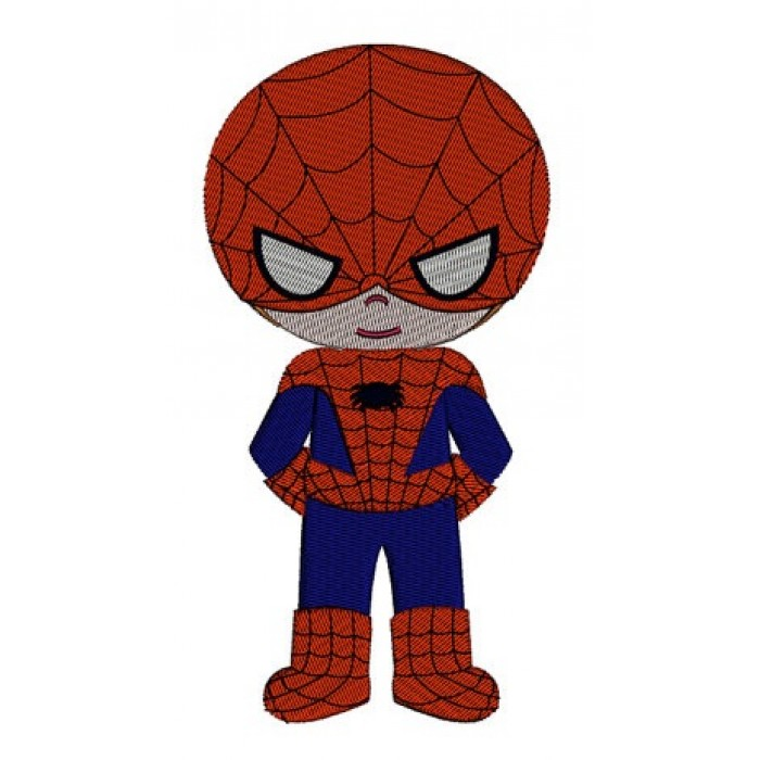 Instant Download Cute Boy Spider man's Little Brother (hands in) Machine Embroidery Design