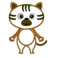 Little Kitty Cat Animal Machine Embroidery Applique Digitized Design Pattern - Instant Download - comes in three sizes 4x4 , 5x7, 6x10 hoops