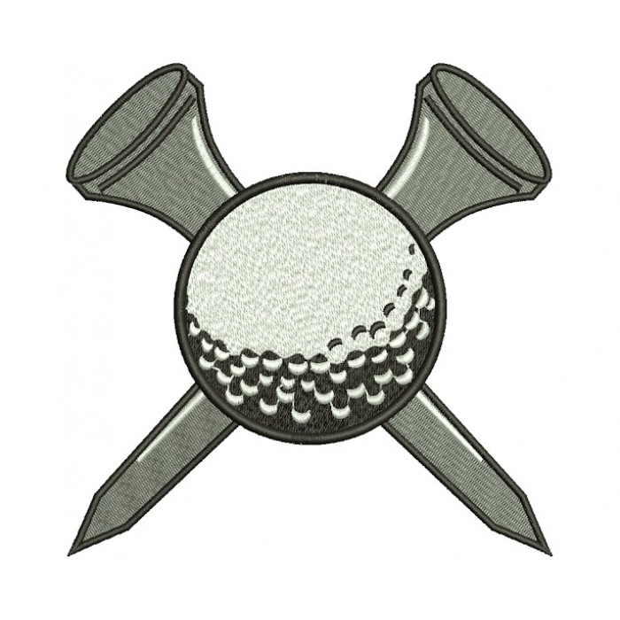 Golf Ball Machine Embroidery Digitized Design Filled Sport Pattern - Instant Download - 4x4 , 5x7, 6x10
