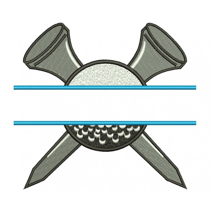 Golf Ball Split Machine Embroidery Digitized Design Filled Sport Pattern - Instant Download - 4x4 , 5x7, 6x10