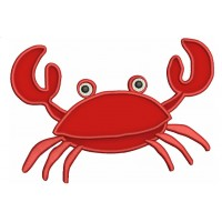Little Crab Applique Marine Machine Embroidery Digitized Design  Pattern  - Instant Download - 4x4 , 5x7, and 6x10 -hoops
