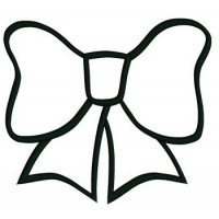 Bow Applique Machine Embroidery Digitized Design Pattern -Instant Download- 4x4,5x7,6x10