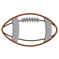 Football Applique Sport Machine Embroidery Digitized Design Pattern- Instant Download - 4x4 , 5x7, and 6x10 hoopss