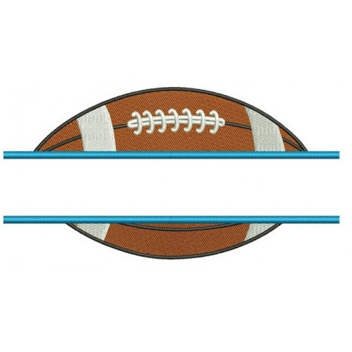 Football Split Sport Machine Embroidery Digitized Design FIlled Pattern- Instant Download - 4x4 , 5x7, and 6x10 hoops