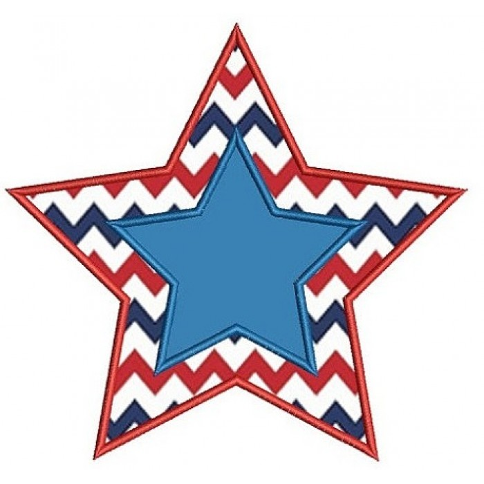 Star Applique Machine Embroidery Digitized Design Pattern - Instant Download - 4x4 , 5x7, 6x10