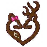 Buck and Pregnant Doe Hunting Applique machine embroidery digitized design pattern -Instant Download -4x4 , 5x7, 6x10 hoops