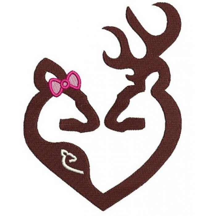 Buck and Pregnant Doe Hunting Filled machine embroidery digitized design pattern -Instant Download -4x4 , 5x7, 6x10 hoops