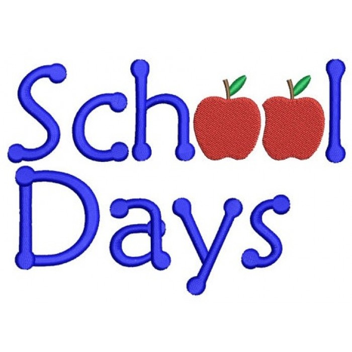 School Days Teacher and Student Machine Embroidery Filled Digitized Design Pattern -Instant Download- 4x4,5x7,6x10