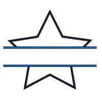 Star Applique Split Machine Embroidery Digitized Design Pattern - Instant Download - 4x4 , 5x7, 6x10